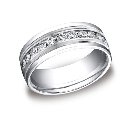 Men's Channel Set Diamond Band featured by Teels Jewelry