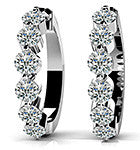 Glittering 14k White Gold Diamond 22mm Hoop Earrings featured at Teels Jewelry