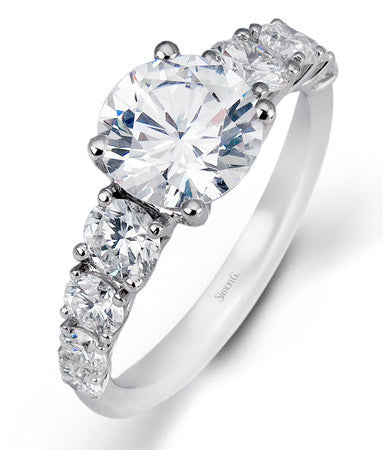 Tapering Prong Set Diamond Engagement Ring by Simon G.