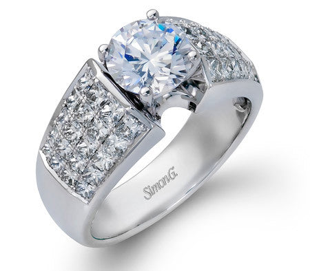 "Fantastic ""Simon Set"" Wide Style Engagement Ring by Simon G."