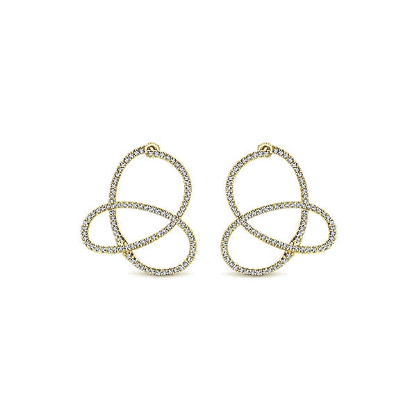 Diamond Loop Earrings by Gabriel & Co.