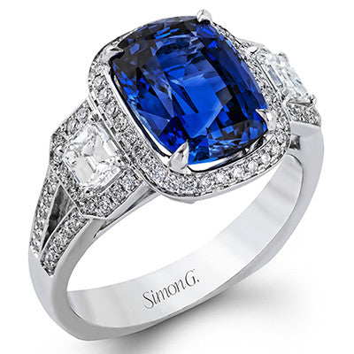 Fabulous Blue Sapphire and Diamond Ring