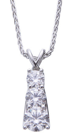 Gorgeous Three Diamond Tiered Pendant by Teels Jewelry
