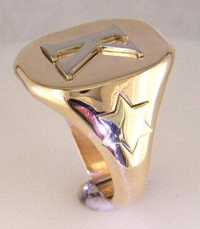 Custom Design Initial Mens Ring featured by Teels Jewelry