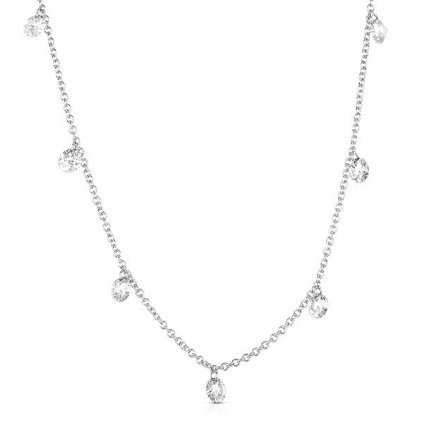 "Magnificent 14k White Gold ""Naked"" Diamond Necklace by MWI Eloquence"