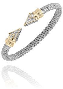 "Sterling Silver and 14k Yellow Gold ""Arrow"" Cuff by Vahan"