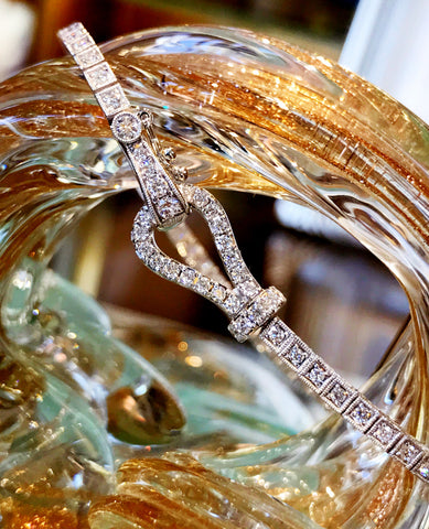 "Signature ""Buckle"" Diamond Bracelet by Simon G"