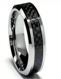 Mens Tungsten Carbide Ring featured at Teels Jewlery