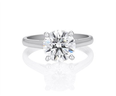 Classic Diamond Solitaire Ring Customized by Teels Jewelry