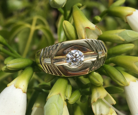 Custom Mens Diamond Ring by Teel's Jewelry