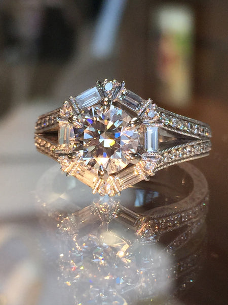 Custom Diamond Engagement Ring by Teel's Jewelry