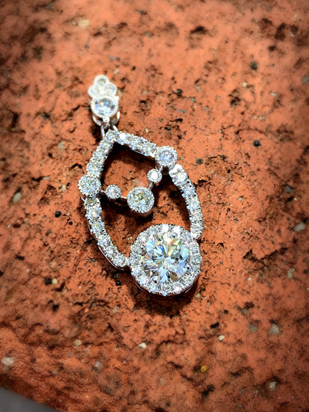 Spectacular Custom Diamond Pendant by Teels Jewelry
