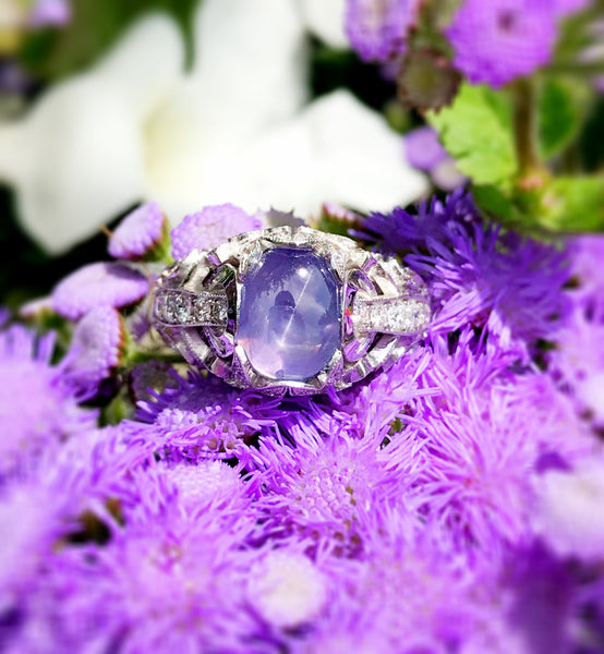 Custom Star Purple Sapphire Ring by Teel's Jewelry
