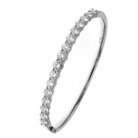 Classic Diamond Bangle Bracelet by Teels Jewelry