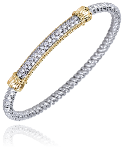 Pave Diamond Bar Bangle by Vahan