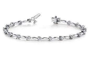 Lovely Diamond Bar Design Bracelet by Teels Jewelry