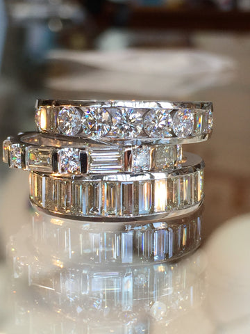 Custom Stacking Diamond Rings by Teels Jewelry
