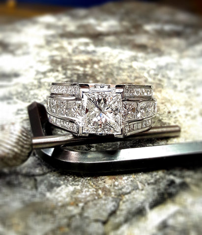 Custom Princess Cut Diamond Ring by Teel's Jewelry
