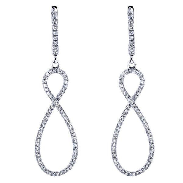 Eternity Style Dangle Diamond Earrings by Gabriel & Co