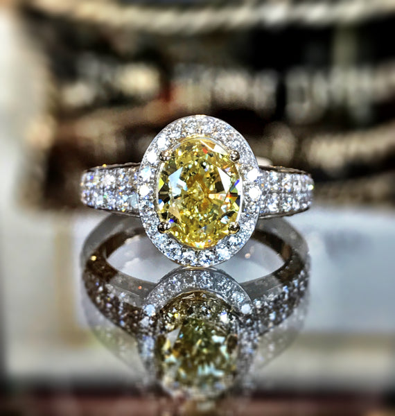 Fancy Yellow Diamond Ring by Teel's Jewelry