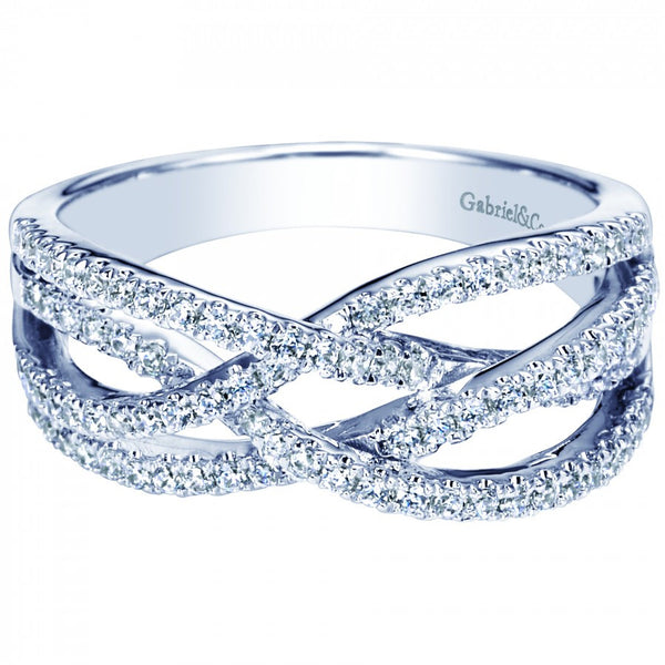 """Woven"" Diamond Fashion Ring by Gabriel & Co"