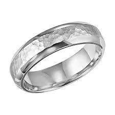 Hammered Finish Mens Wedding Band featured by Teels Jewelry