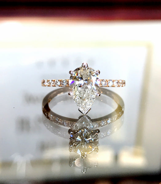 Perfect Pear Shape Diamond Ring by Simon G