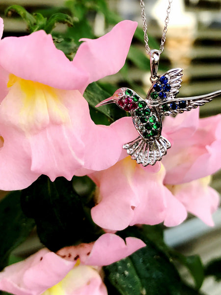 Colorful Hummingbird Pendant featured at Teel's Jewelry