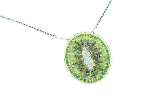 "Amazing ""Kiwi"" Custom Designed Pendant by Teel's Jewelry"