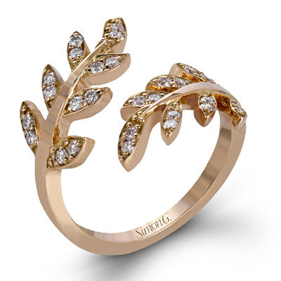 Organic Leaf Designed Ring by Simon G