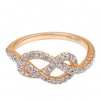 """Love Knot"" Diamond Ring by Gabriel & Co"
