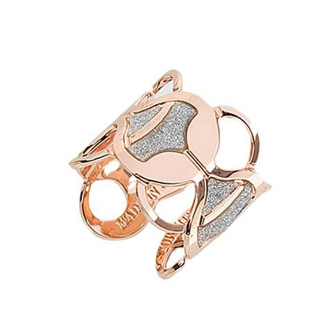 Modern Rose and Silver Ring by Boccadamo