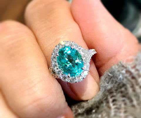 Amazing Paraiba Tourmaline Ring by Simon G