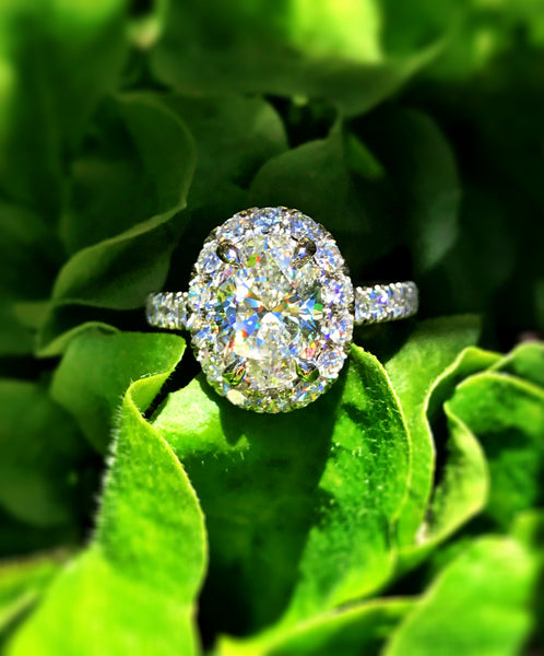 Oval Pave Diamond Ring by Gabriel & Co