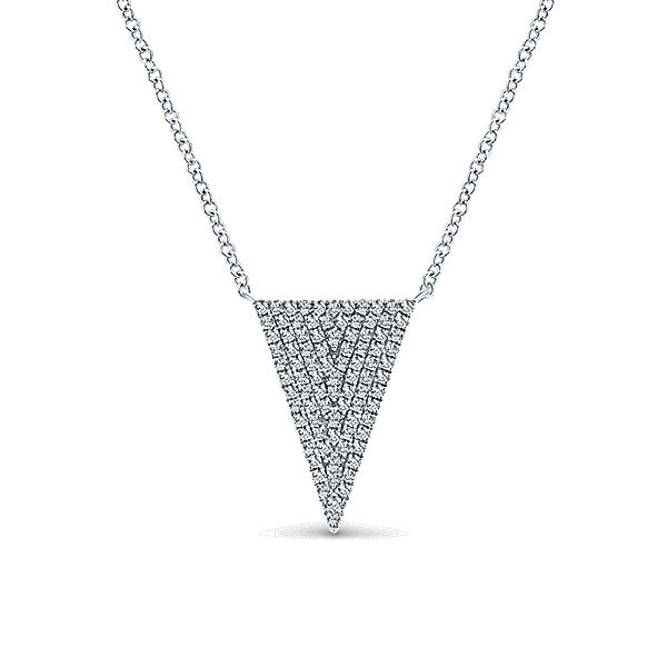 Diamond Arrow Necklace by Gabriel & Co.