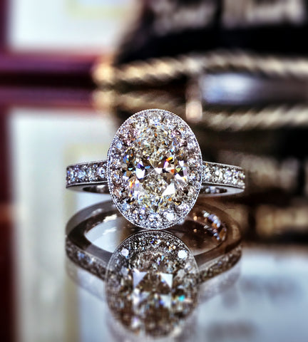 Custom Oval Diamond Engagement Ring by Teel's Jewelry