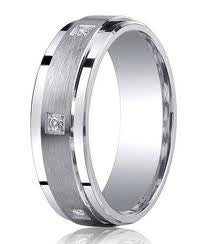 Princess Cut Diamond Mens Eternity Band featured by Teels Jewelry