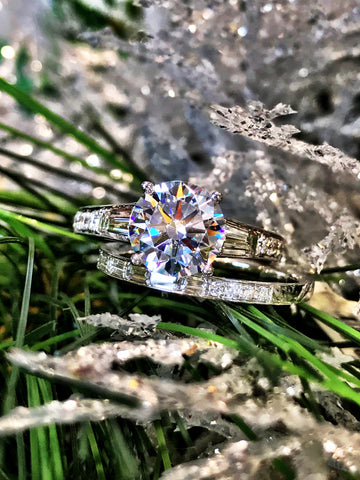 Classic Baguette Diamond Engagement Ring by Simon G
