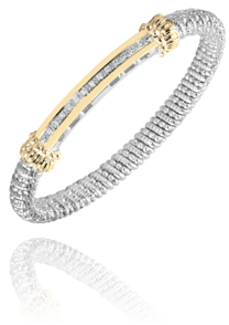 Sleek 14k Yellow Gold and Diamond Bracelet by Vahan