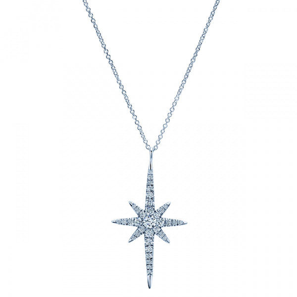 "Stunning ""Starburst"" Diamond Pendant by Gabriel & Co"