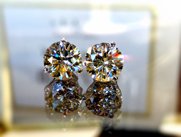 Timeless Diamond Stud Earrings featured at Teels Jewelry