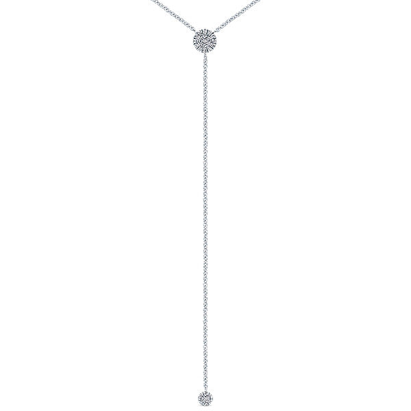 """""""Why Knot"""" Diamond Necklace by Gabriel & Co."""