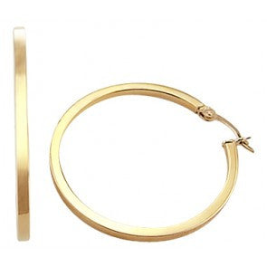 Shining Yellow Gold Classic Hoop Style Earrings featured by Teels Jewelry