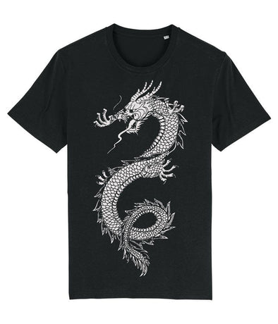 Japanese Dragon Men's T-shirt Black