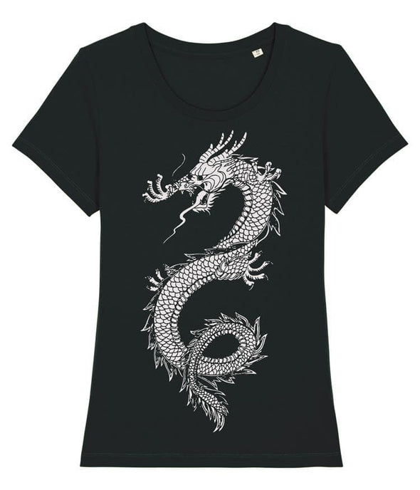 Japanese Dragon Women's T-shirt Black