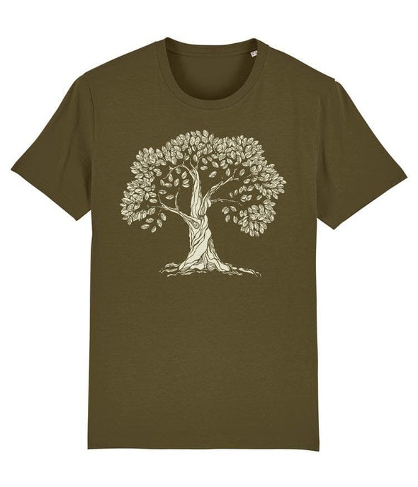 Gnarled Tree Men's T-shirt Khaki