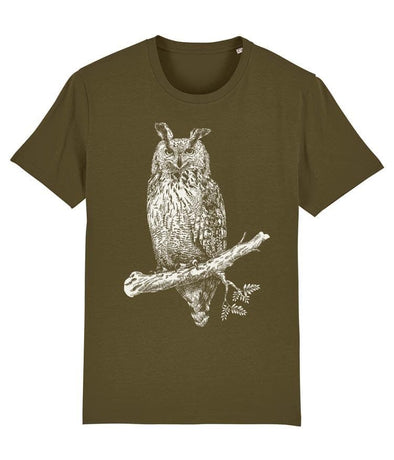 Great Horned Owl Men's T-shirt Khaki