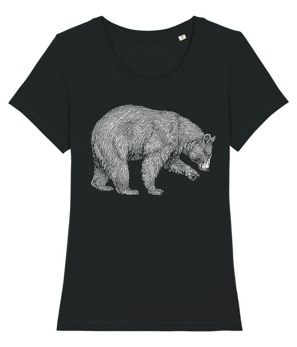 Grizzly Bear Women's T-shirt Black