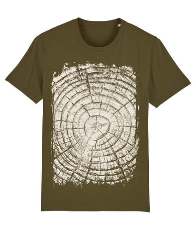 Growth Rings Men's T-shirt Khaki