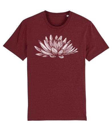 Lotus Men's T-shirt Burgundy